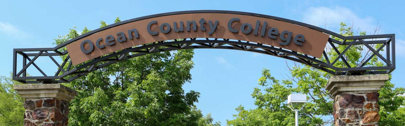 Ocean County College archway sign